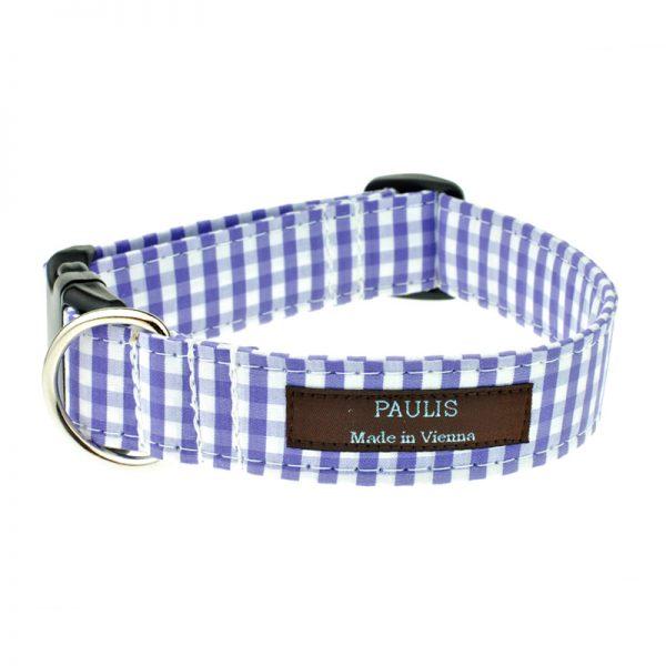 Hundehalsband von Paulis Hundeausstatter | Bauernkaro | blau