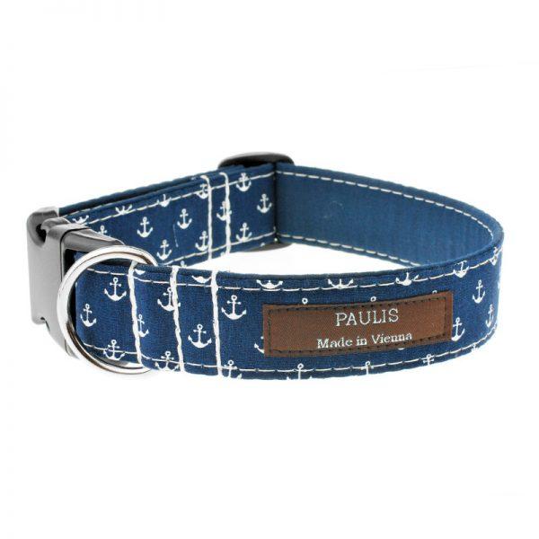 Hundehalsband von Paulis Hundeausstatter   Paulis Ahoi   Anker