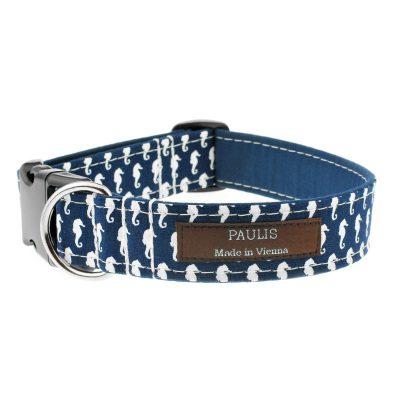 Hundehalsband von Paulis Hundeausstatter | Paulis Ahoi | Seepferdchen