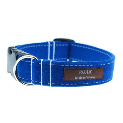 Hundehalsband von Paulis Hundeausstatter | Loden | blitzblau