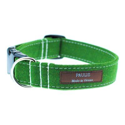 Hundehalsband von Paulis Hundeausstatter | Loden | gruen