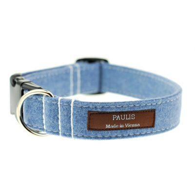 Hundehalsband von Paulis Hundeausstatter | Loden | hellblau