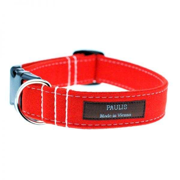 Hundehalsband von Paulis Hundeausstatter | Loden | orange