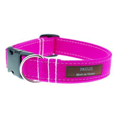 Hundehalsband von Paulis Hundeausstatter | Loden | pink