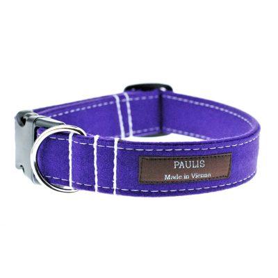 Hundehalsband von Paulis Hundeausstatter | Loden | violett
