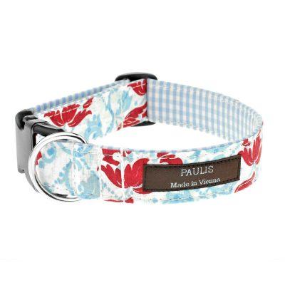 Paulis Hundeausstatter, Hundehalsband aus Baumwolle, Alles Tracht Kollektion, Blumen, Lilly