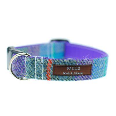 Hundehalsband von Paulis Hundeausstatter | Harris Tweet| blau-violett