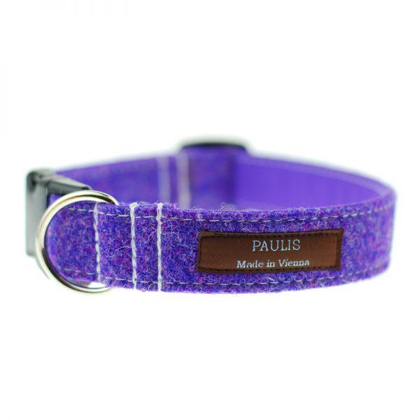 Hundehalsband von Paulis Hundeausstatter | Harris Tweed| violett
