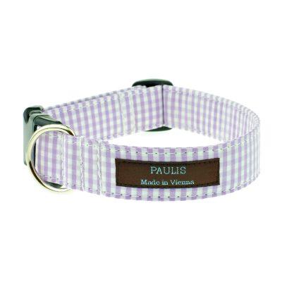 paulis-hundeausstatter-halsband-vichykaro-flieder