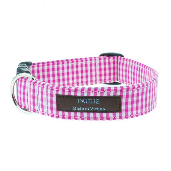 paulis-hundeausstatter-halsband-vichykaro | pink
