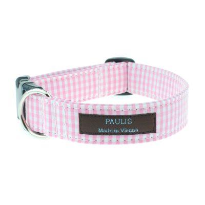 paulis-hundeausstatter-halsband-vichykaro | rosa