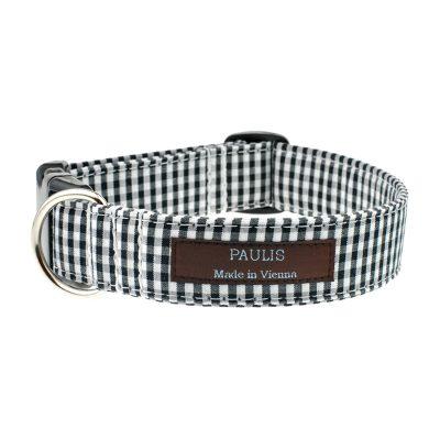 paulis-hundeausstatter-halsband-vichykaro | schwarz