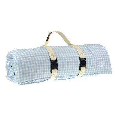 Picknicker von Paulis Hundeausstatter | Bauernkaro | hellblau