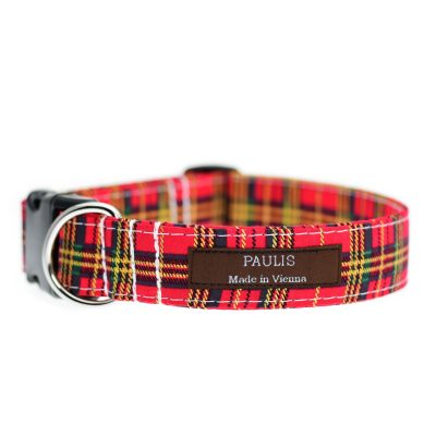 Paulis Hundeausstatter, Hundehalsband aus Baumwolle, Weihnachtskollektion - Fancy Tartan