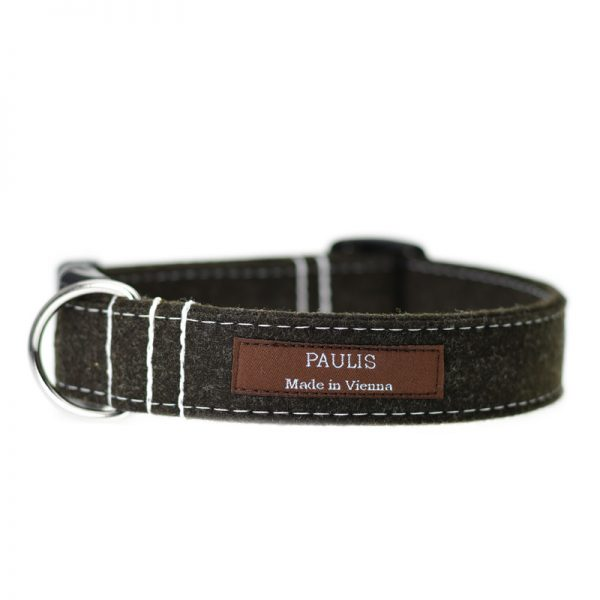 Hundehalsband von Paulis Hundeausstatter | Loden | Braun-meliert