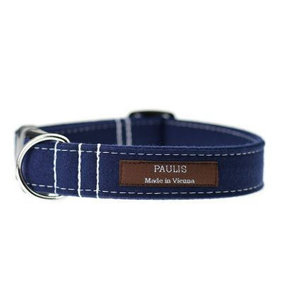 Hundehalsband von Paulis Hundeausstatter | Loden | Dunkelblau