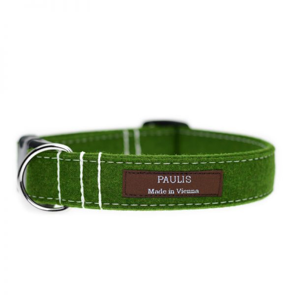 Hundehalsband von Paulis Hundeausstatter | Loden | Froschgruen