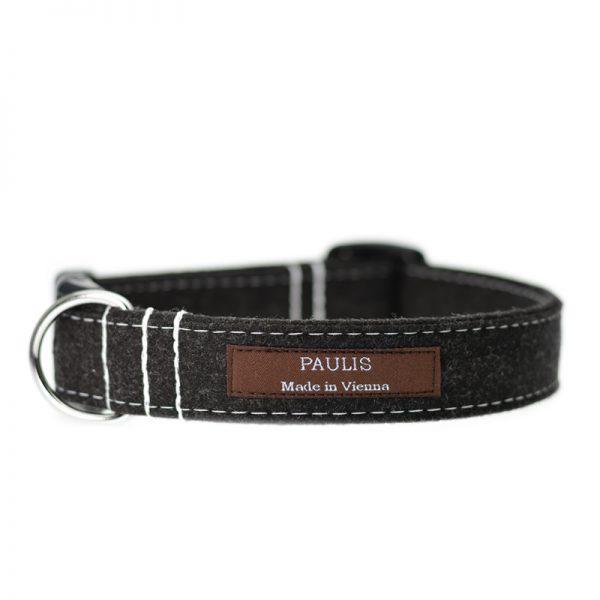 Hundehalsband von Paulis Hundeausstatter | Loden | Grau-meliert