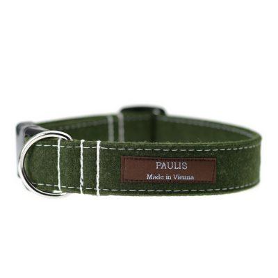 Hundehalsband von Paulis Hundeausstatter | Loden | grün meliert
