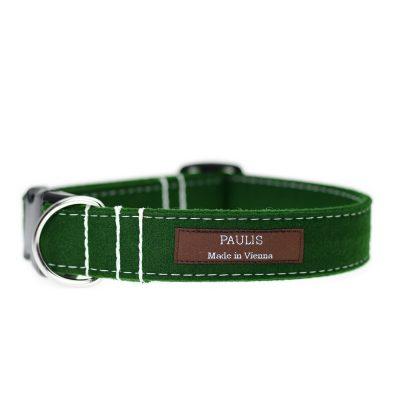 Hundehalsband von Paulis Hundeausstatter | Loden | Tannengruen