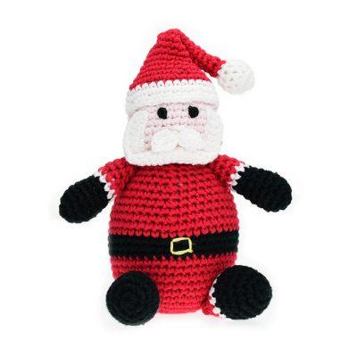 Paulis Hundeausstatter - Spielzeug für Hunde - gehäkelter Weihnachtsmann