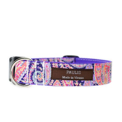 Paulis Hundeausstatter, Hundehalsband, Liberty London, Felix and Isabelle Tana Lawn Cotton Pink
