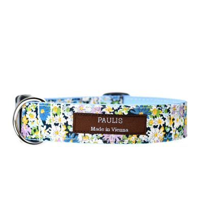 Paulis Hundeausstatter, Hundehalsband, Liberty London, Libby light blue Tana Lawn Cotton