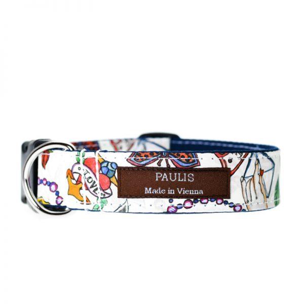 Paulis Hundeausstatter, Hundehalsband, Liberty London, Love Letters Tana Lawn Cotton